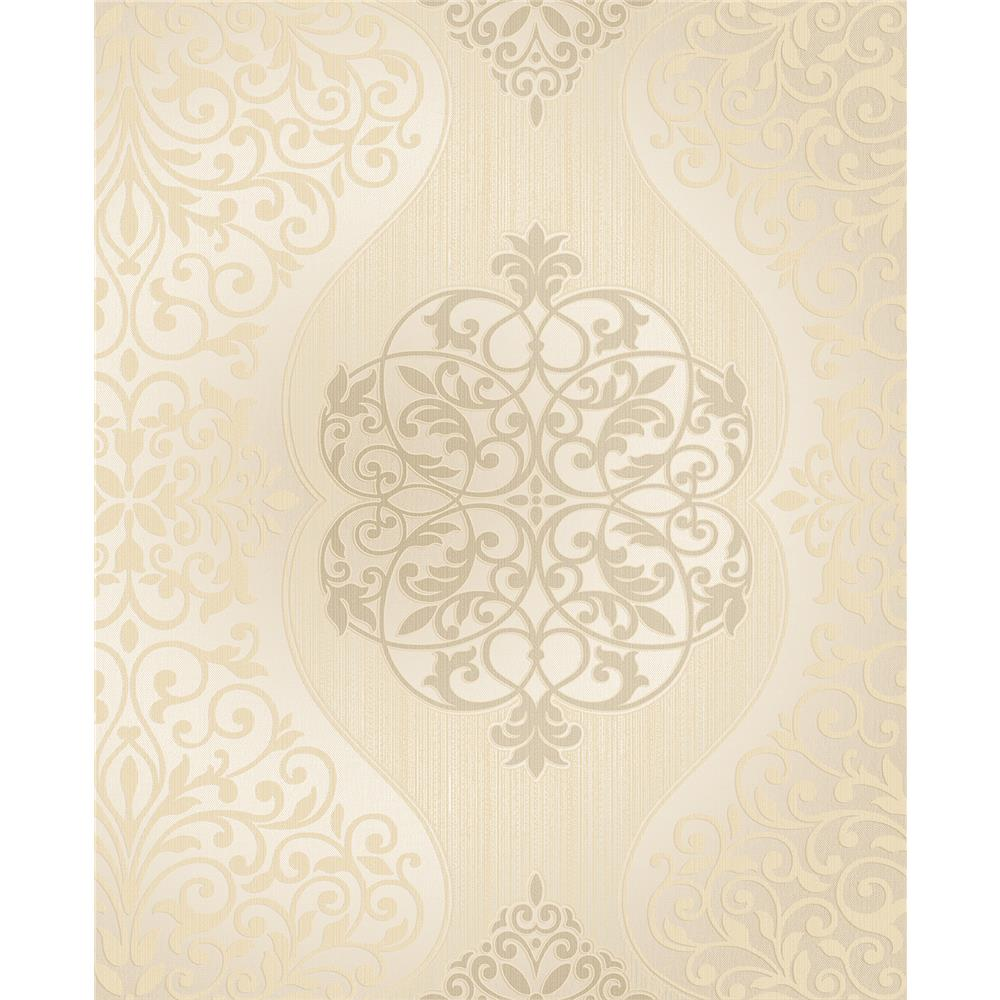 Decorline by Brewster 2683-23016 Energico Gold Medallion Wallpaper