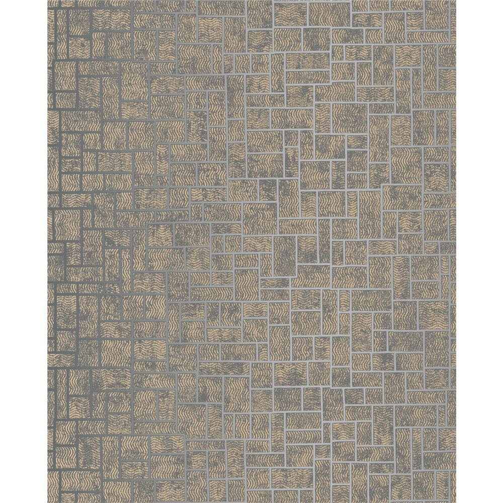 Decorline by Brewster 2683-23025 Etude Charcoal Geometric Wallpaper