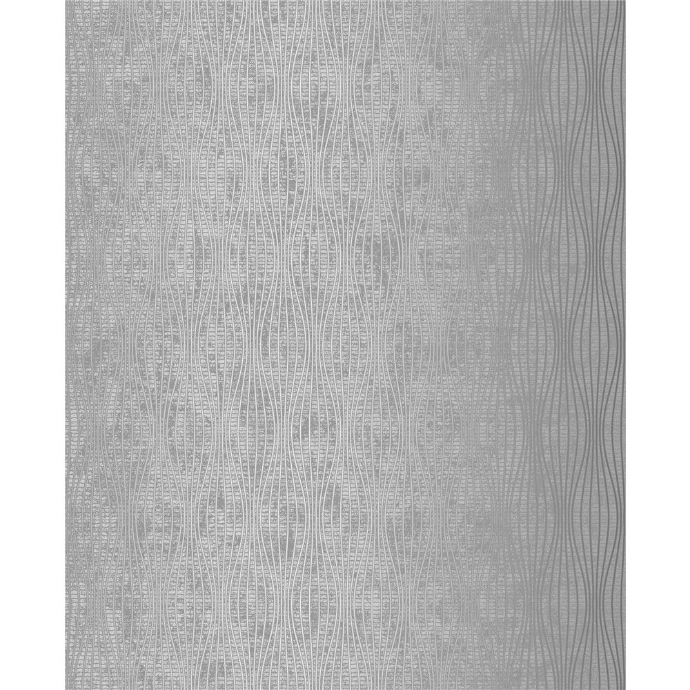 Decorline by Brewster 2683-23027 Falsetto Silver Wave Wallpaper