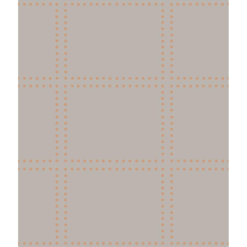 A-Street Prints by Brewster 2697-22641 Gridlock Copper Geometric Wallpaper