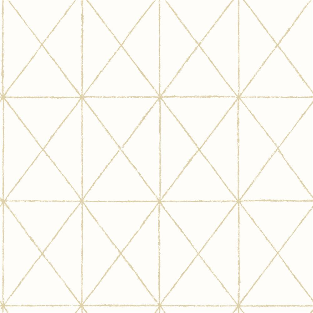 A-Street Prints by Brewster 2697-78002 Intersection Gold Geometric Wallpaper