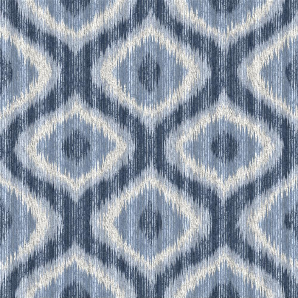 A-Street Prints by Brewster 2697-78012 Abra Blue Ogee Wallpaper