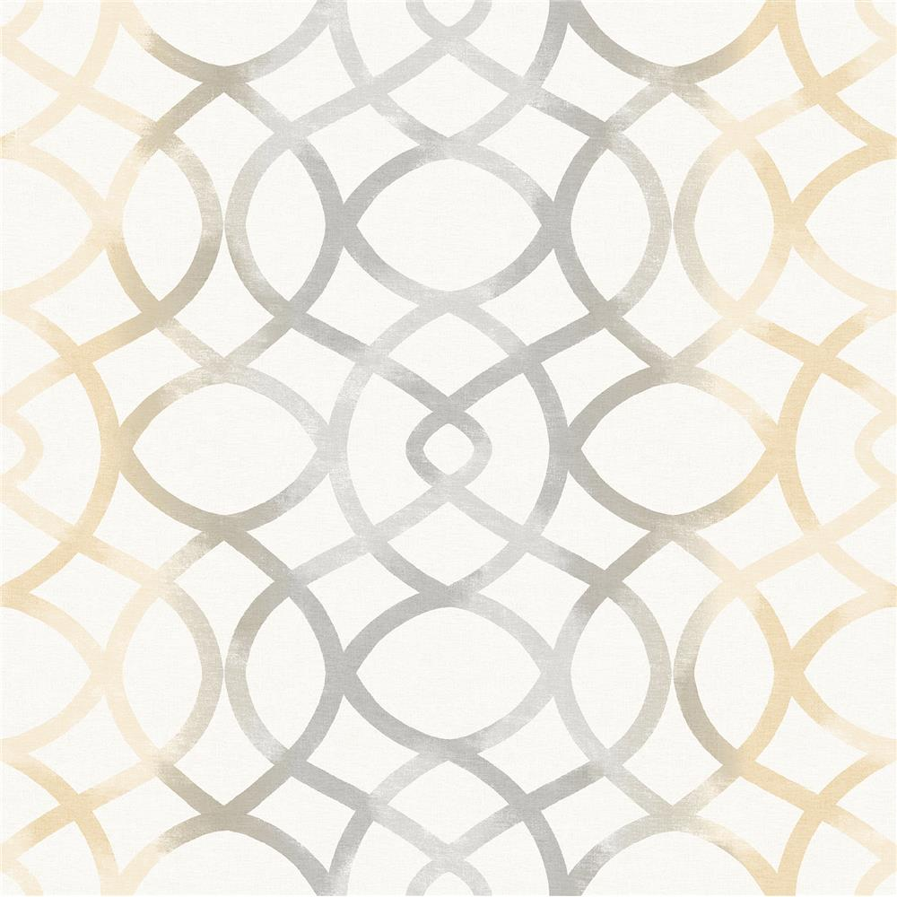 A-Street Prints by Brewster 2697-78035 Twister Ginger Trellis Wallpaper