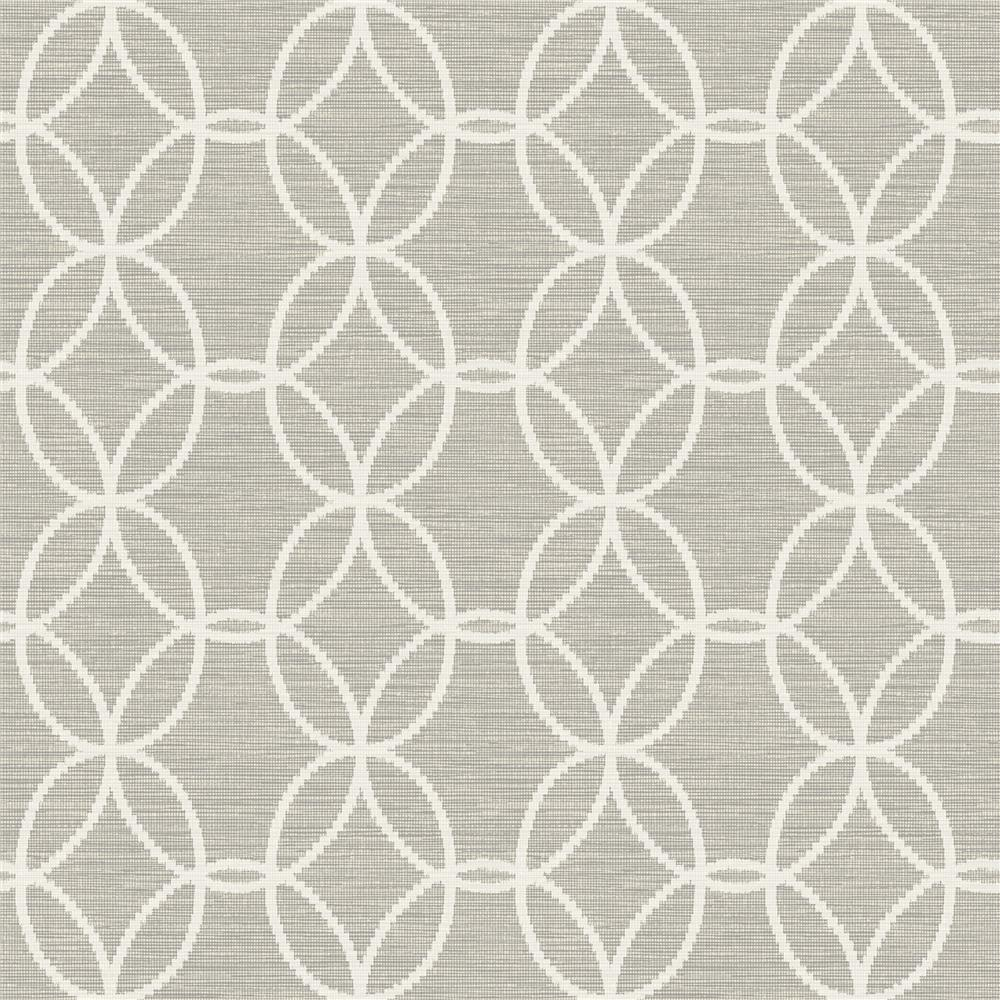 A-Street Prints by Brewster 2697-78044 Network Light Grey Links Wallpaper