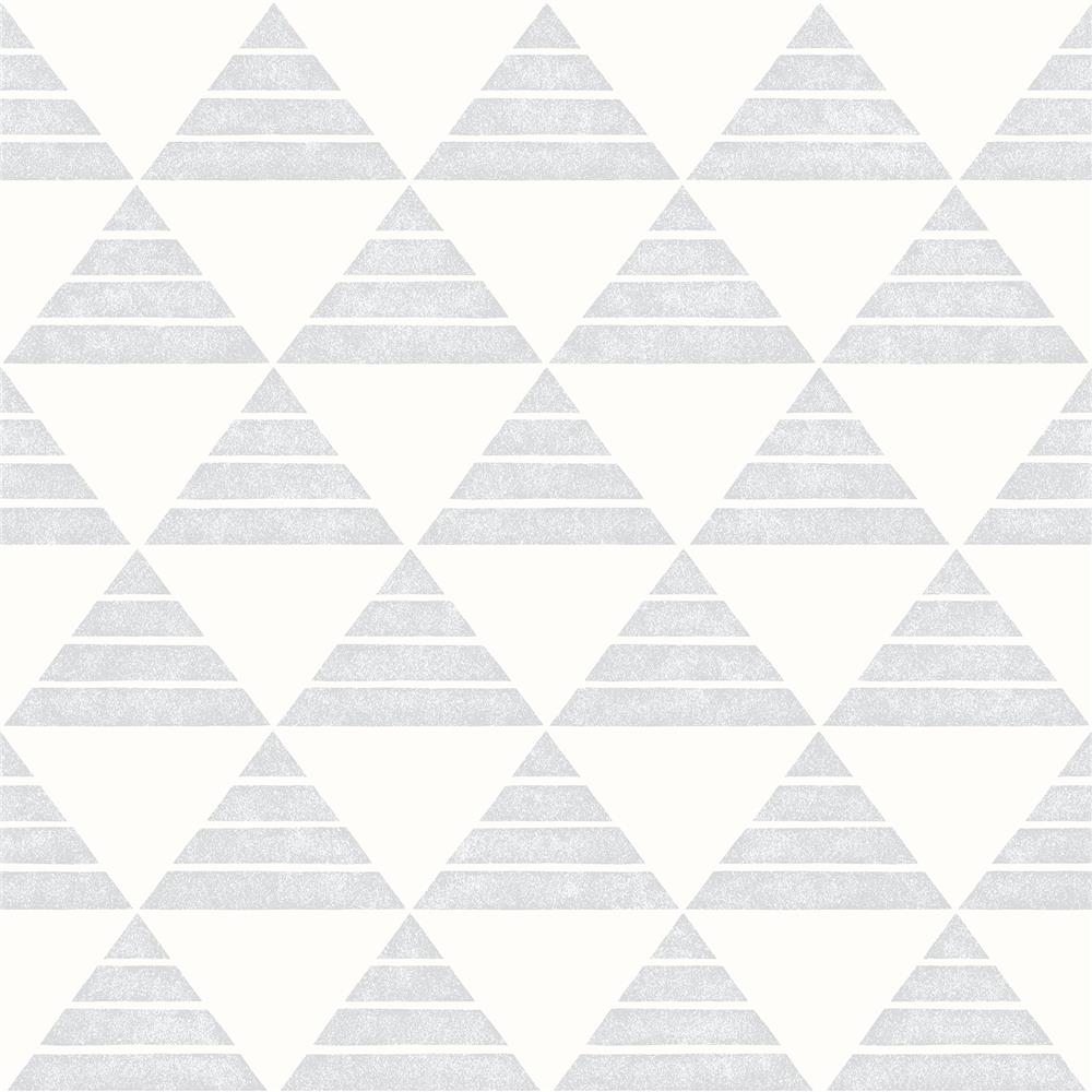 A-Street Prints by Brewster 2697-78073 Summit Light Grey Triangle Wallpaper