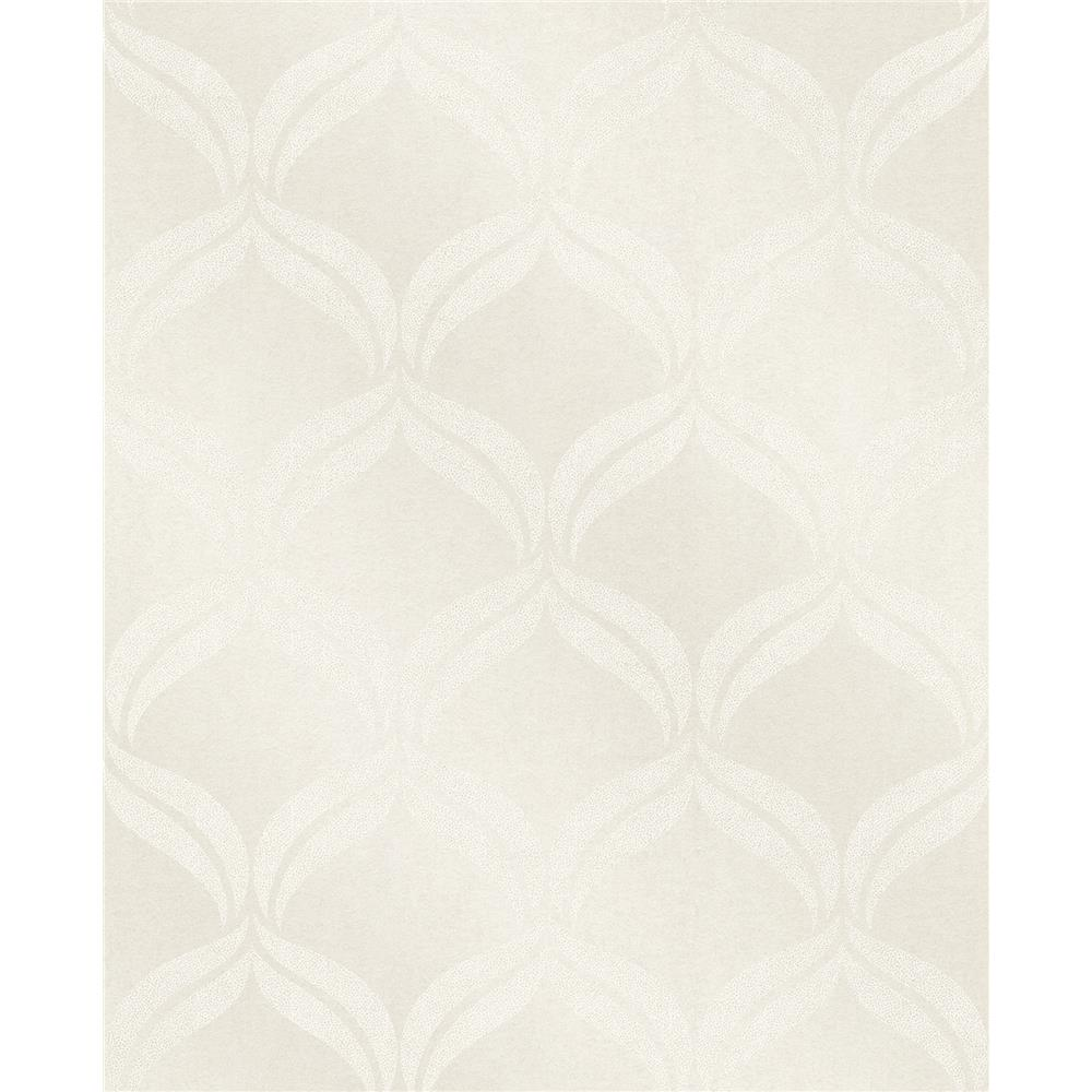 A-Street Prints by Brewster 2697-87301 Petals Ivory Ogee Wallpaper