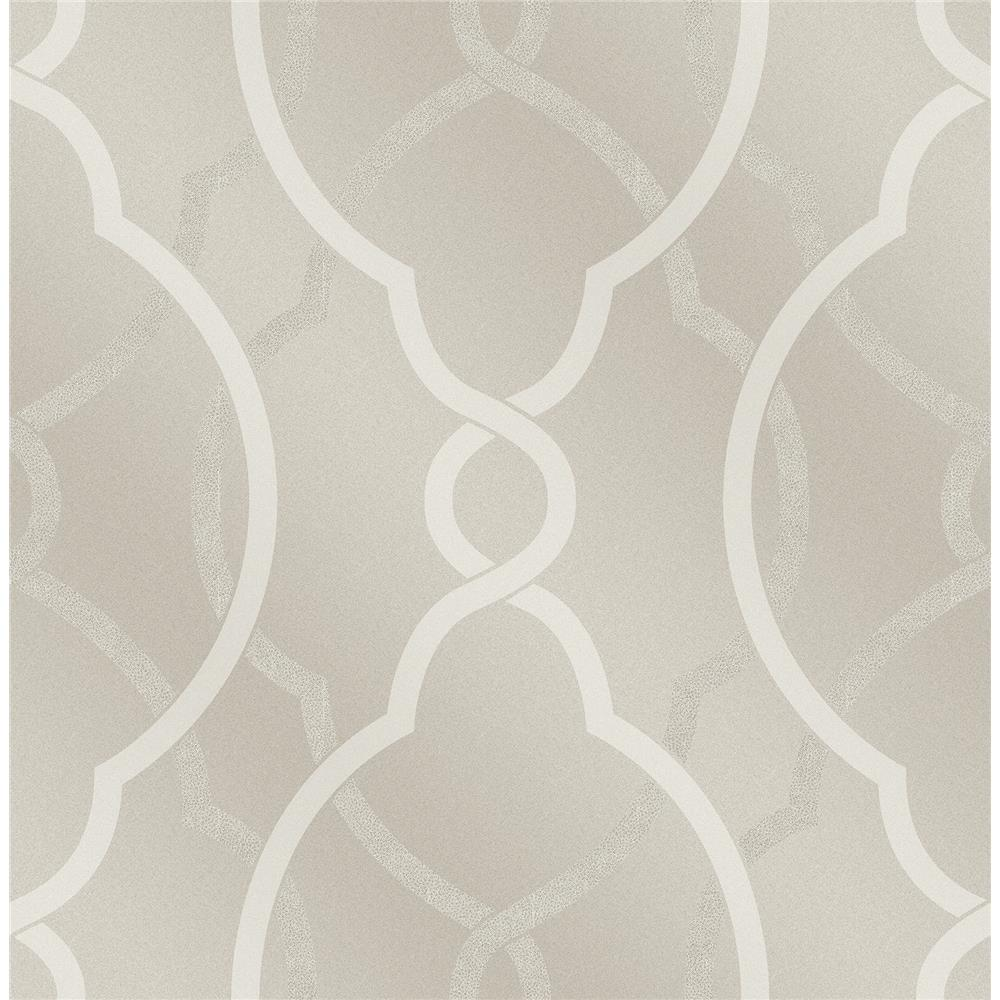 A-Street Prints by Brewster 2697-87304 Sausalito Champagne Lattice Wallpaper