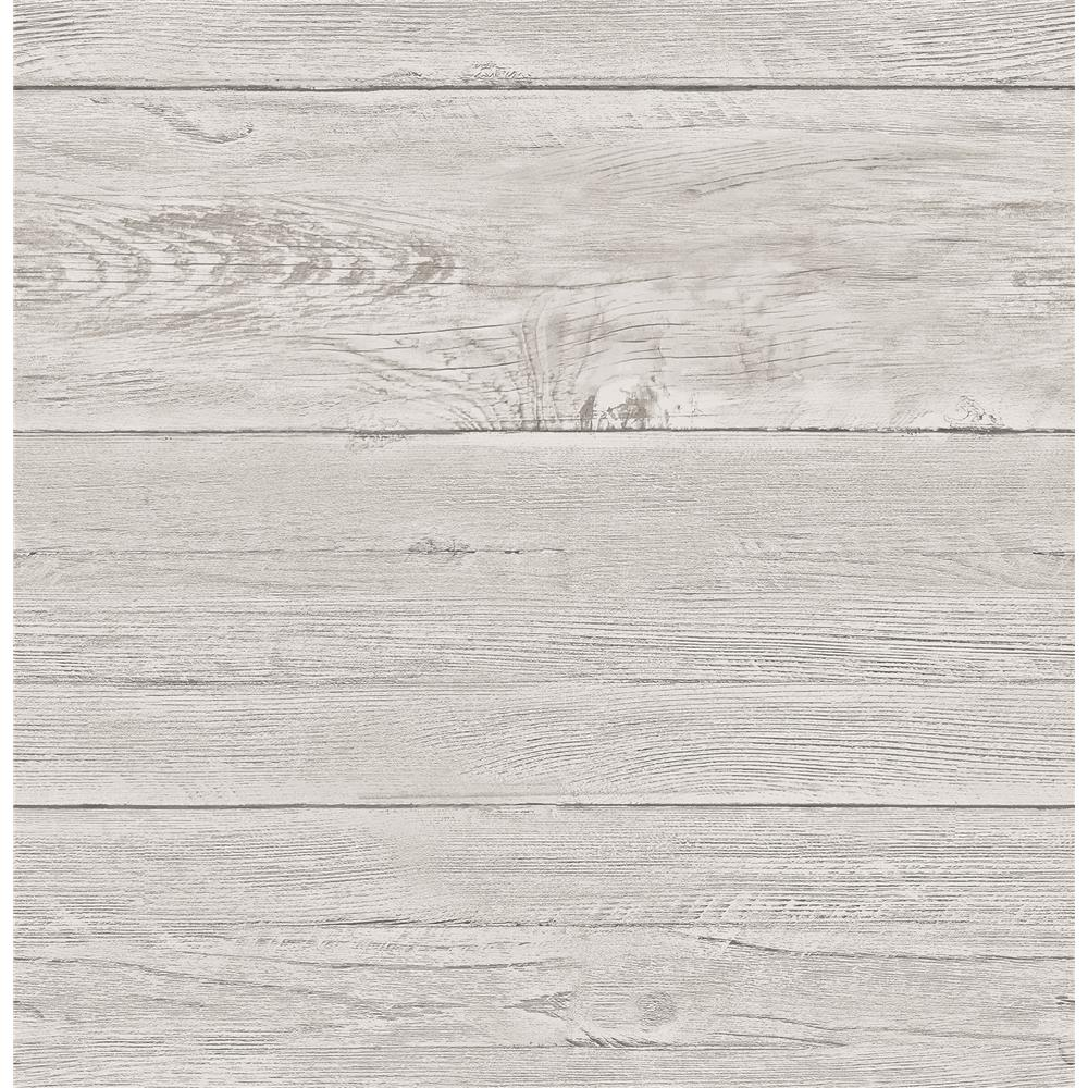 A - Street Prints by Brewster 2701-22323 White Washed Boards Grey Shiplap
