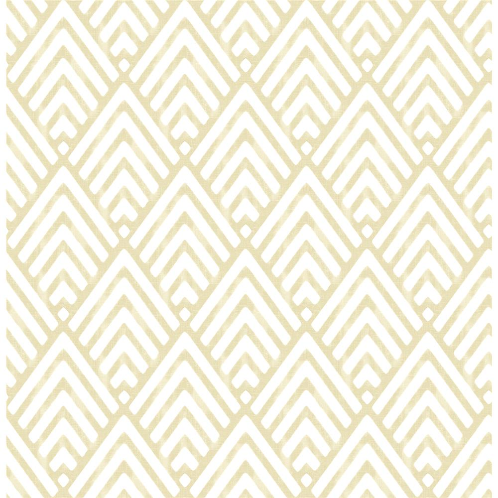 Brewster 2704-21824 For Your Bath III Vertex Gold Diamond Geometric Wallpaper