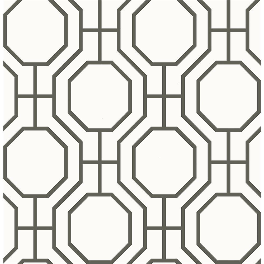 Brewster 2704-21844 For Your Bath III Circuit Black Modern Ironwork Wallpaper