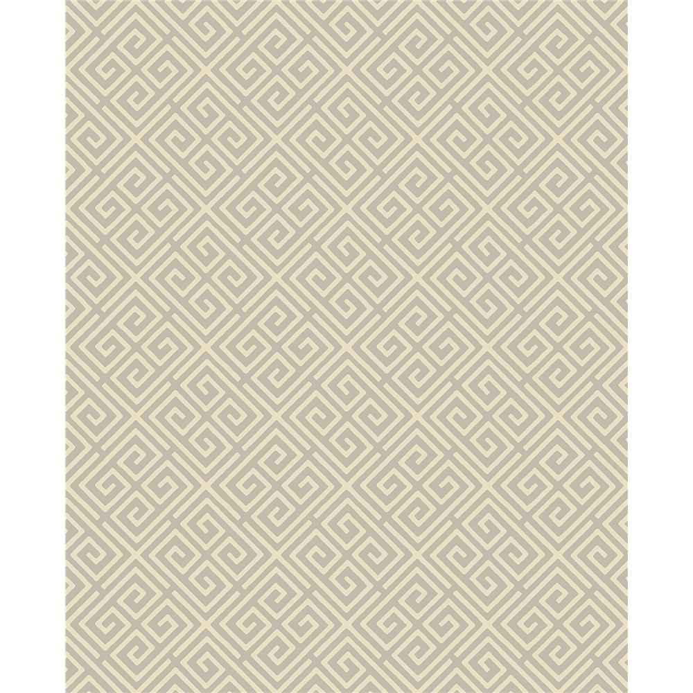 Brewster 2704-21861 For Your Bath III Omega Taupe Geometric Wallpaper