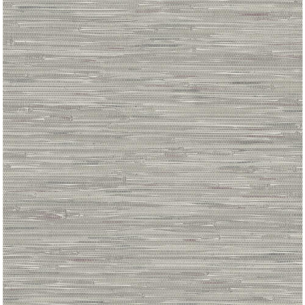 Brewster 2704-22268 For Your Bath III Natalie Grey Faux Grasscloth Wallpaper