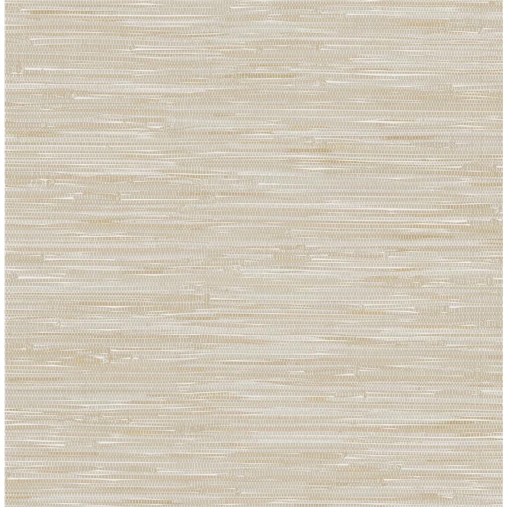 Brewster 2704-22269 For Your Bath III Natalie Beige Faux Grasscloth Wallpaper