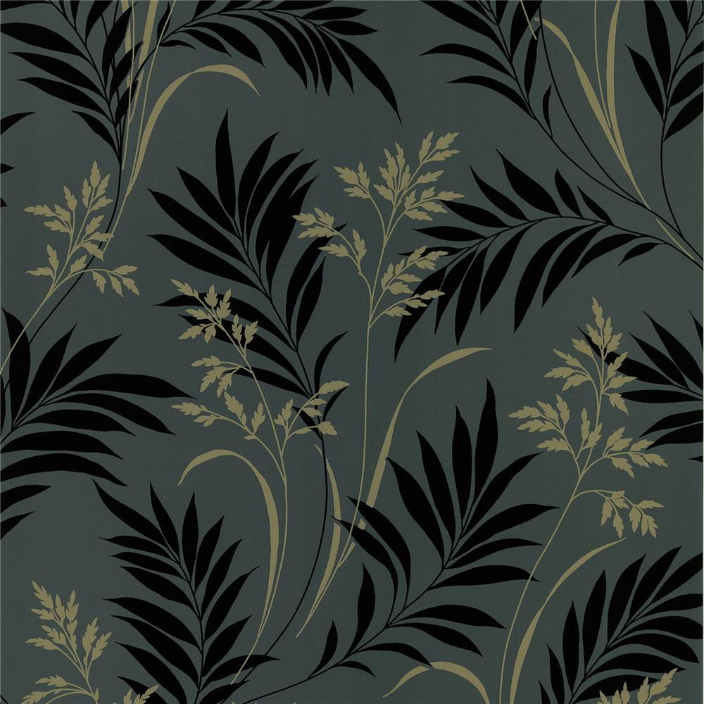 Brewster 2704-46937 For Your Bath III Midori Black Bamboo Silhouette Wallpaper