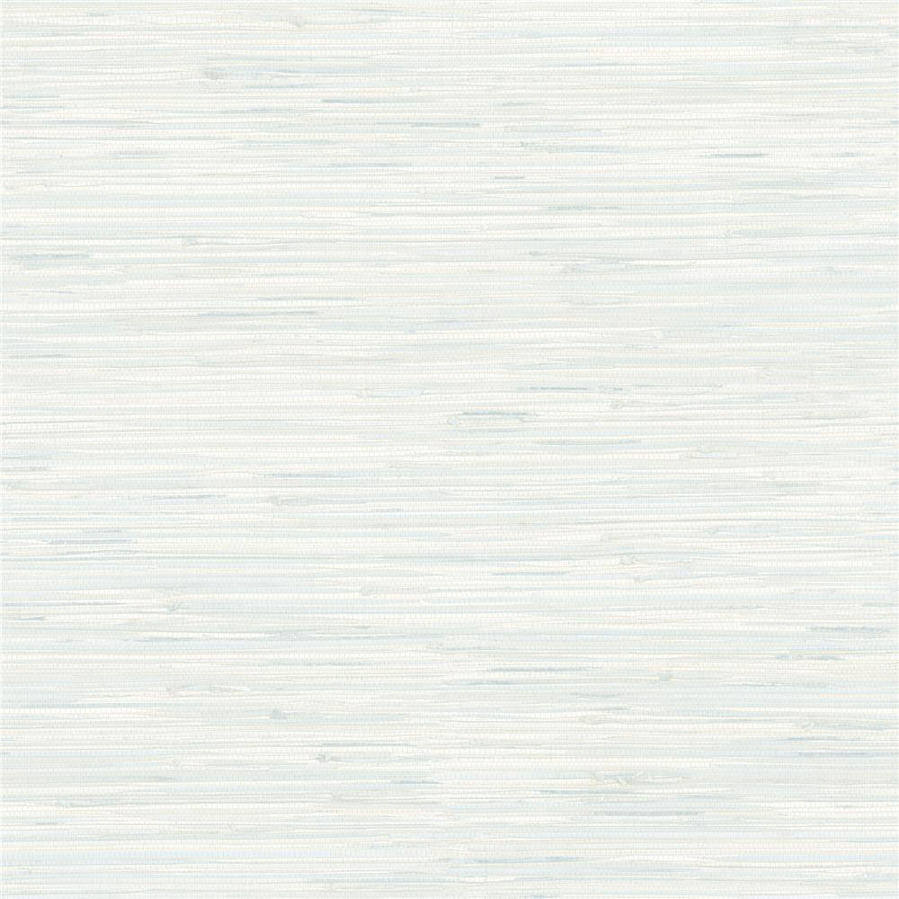 Brewster 2704-58699 For Your Bath III Natalie Light Blue Faux Grasscloth Wallpaper