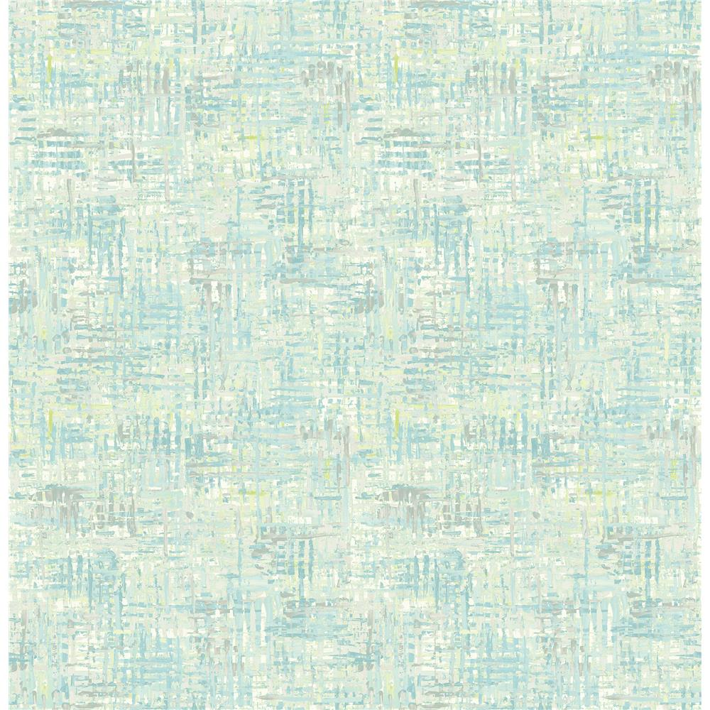 Brewster 2718-004030 Texture Trends II Avalon Turquoise Weave Wallpaper