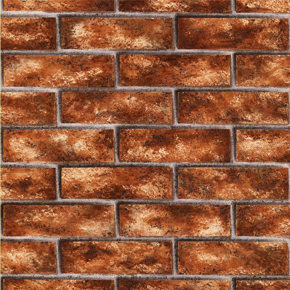 Brewster 2718-44145 Texture Trends II Urbania Red Brick Texture Wallpaper