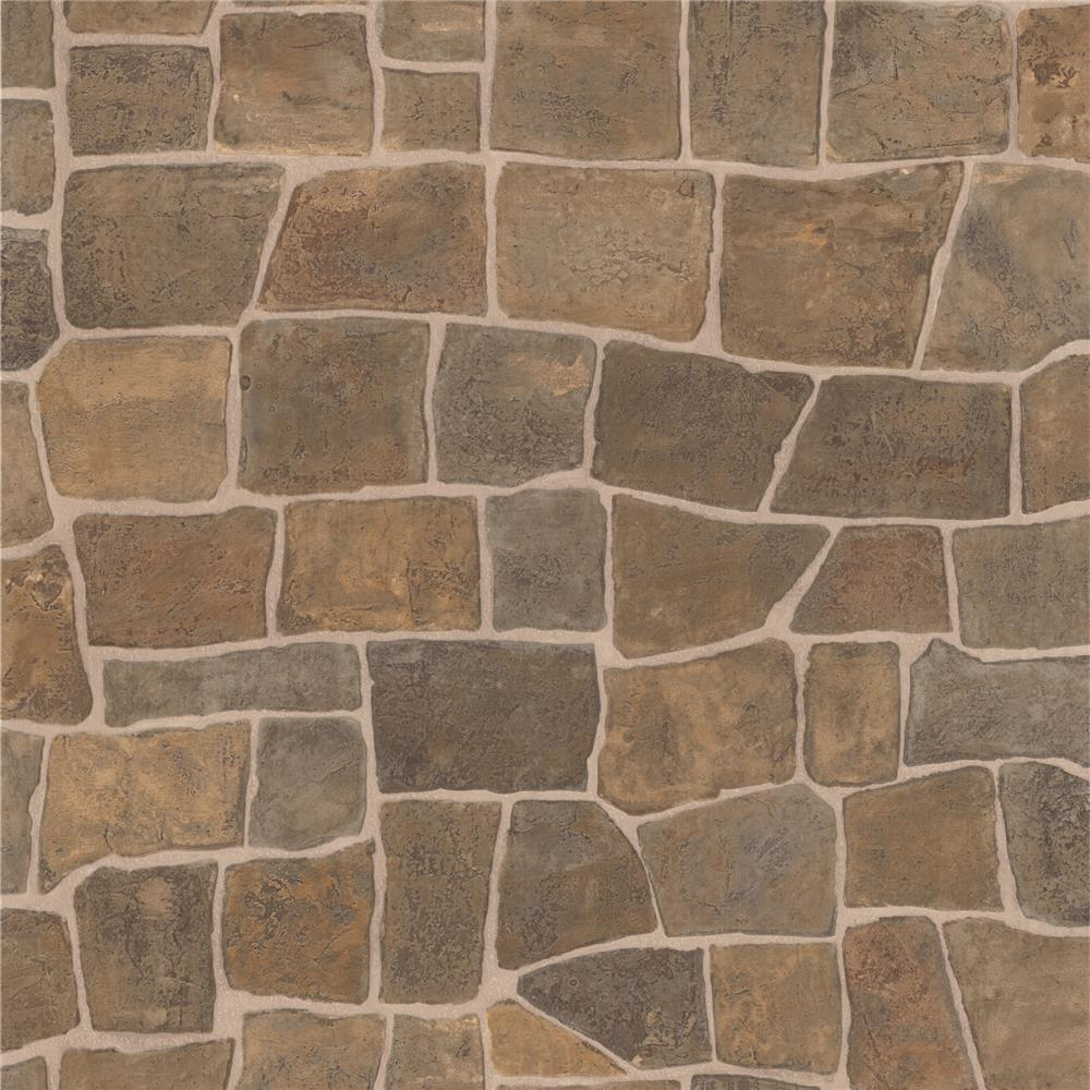 Brewster 2718-44151 Texture Trends II Flagstone Taupe Slate Path Wallpaper