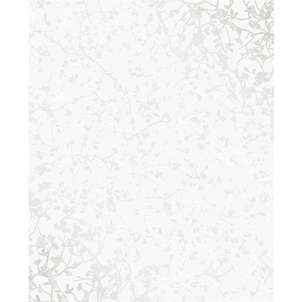 Decorline by Brewster 2735-23307 Essence Palatine Silver Leaves Wallpaper
