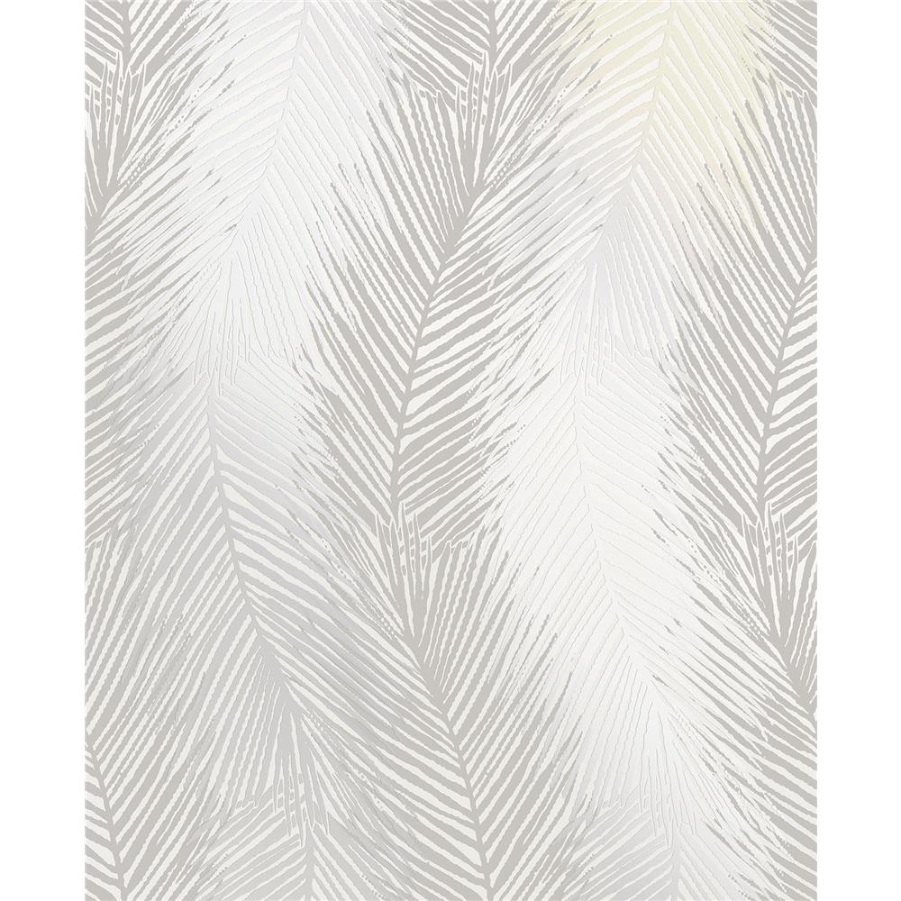 Decorline by Brewster 2735-23340 Essence Wheaton Silver Leaf Wave Wallpaper