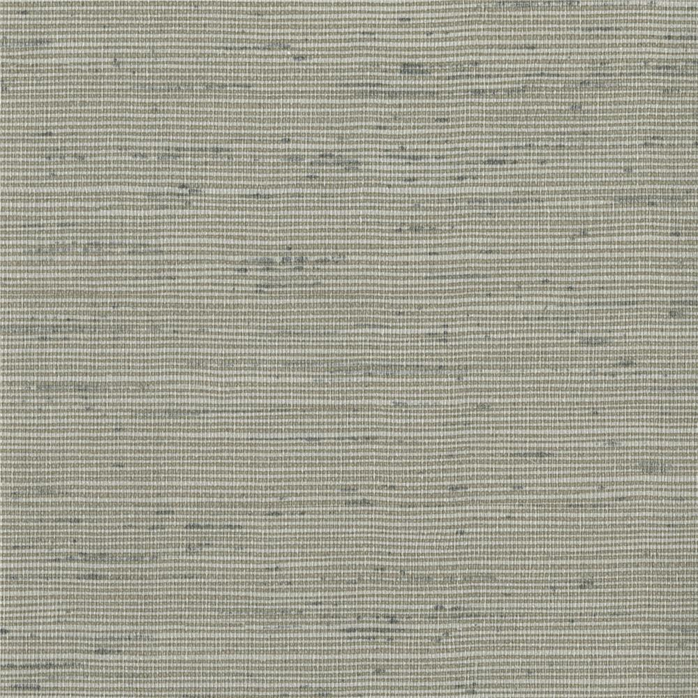 Warner Textures by Brewster 2741-6016 Texturall III Alan Grey Horizontal Slub Wallpaper