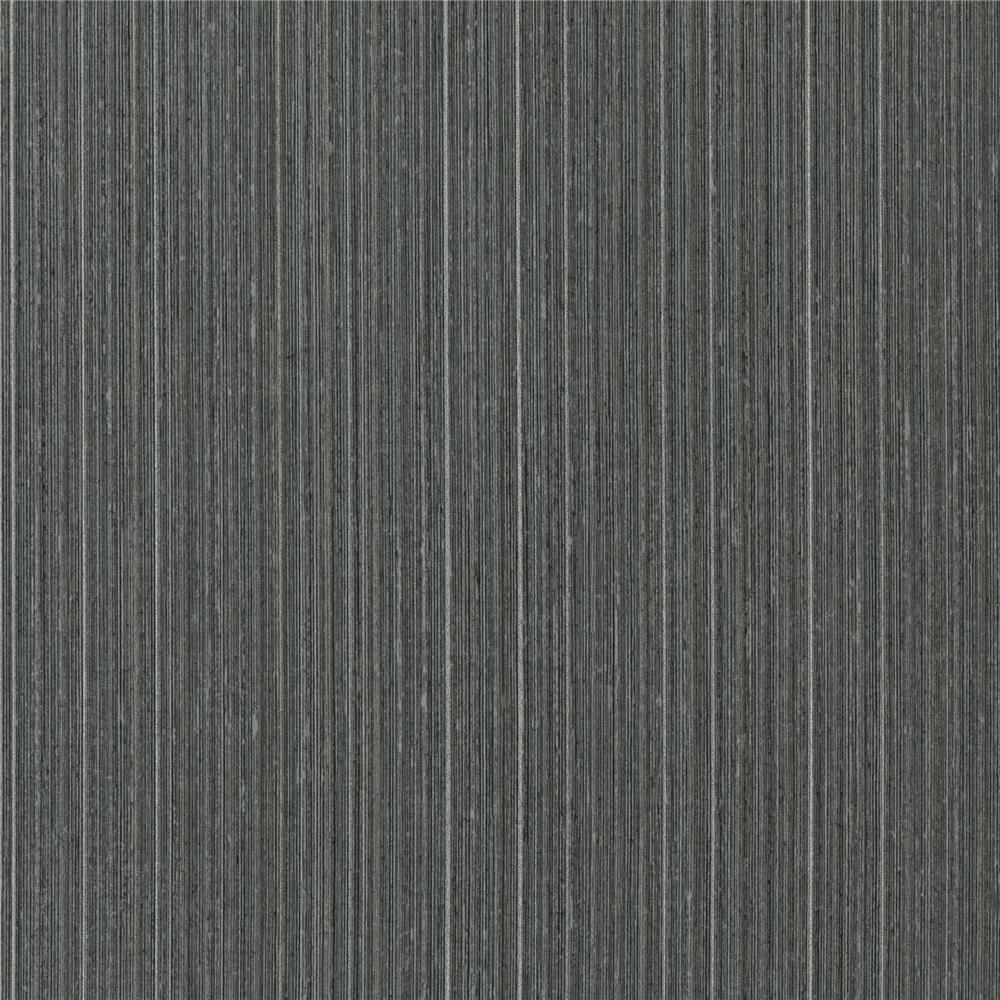 Warner Textures by Brewster 2741-6055 Texturall III Jayne Charcoal Vertical Shimmer Wallpaper