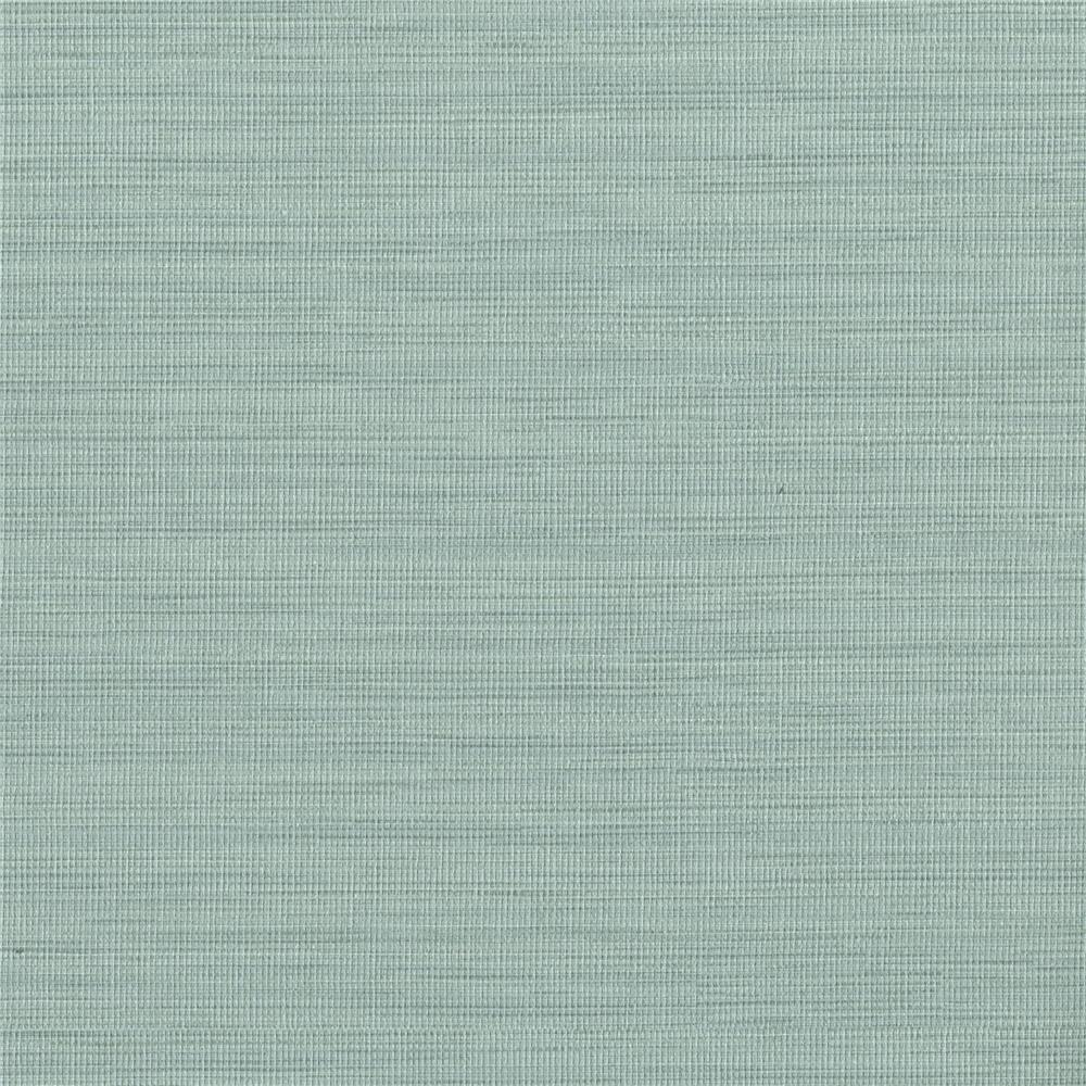 Warner Textures by Brewster 2741-6070 Texturall III Giana Turquoise Horizontal Silk Wallpaper