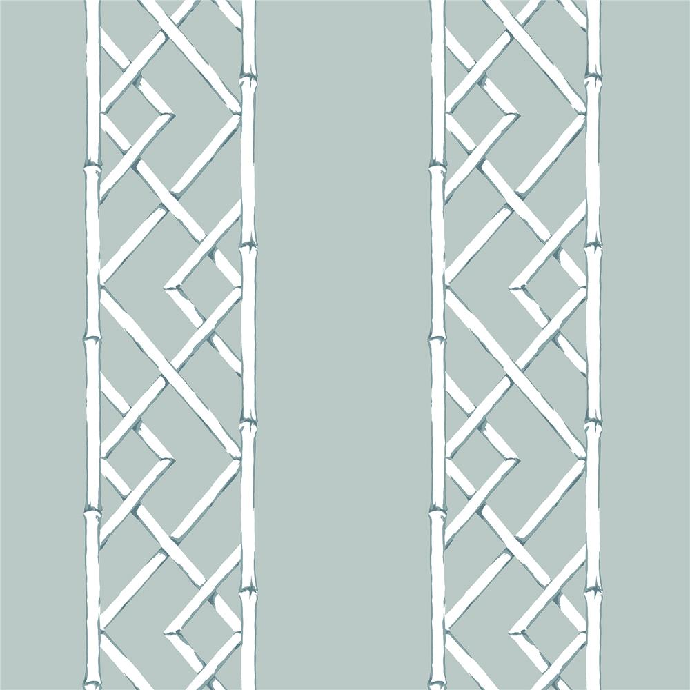 A-Street Prints by Brewster 2785-24806 Signature by Sarah Richardson 4 by Brewster 2785-24806 4 Aqua Latticework Wallpaper