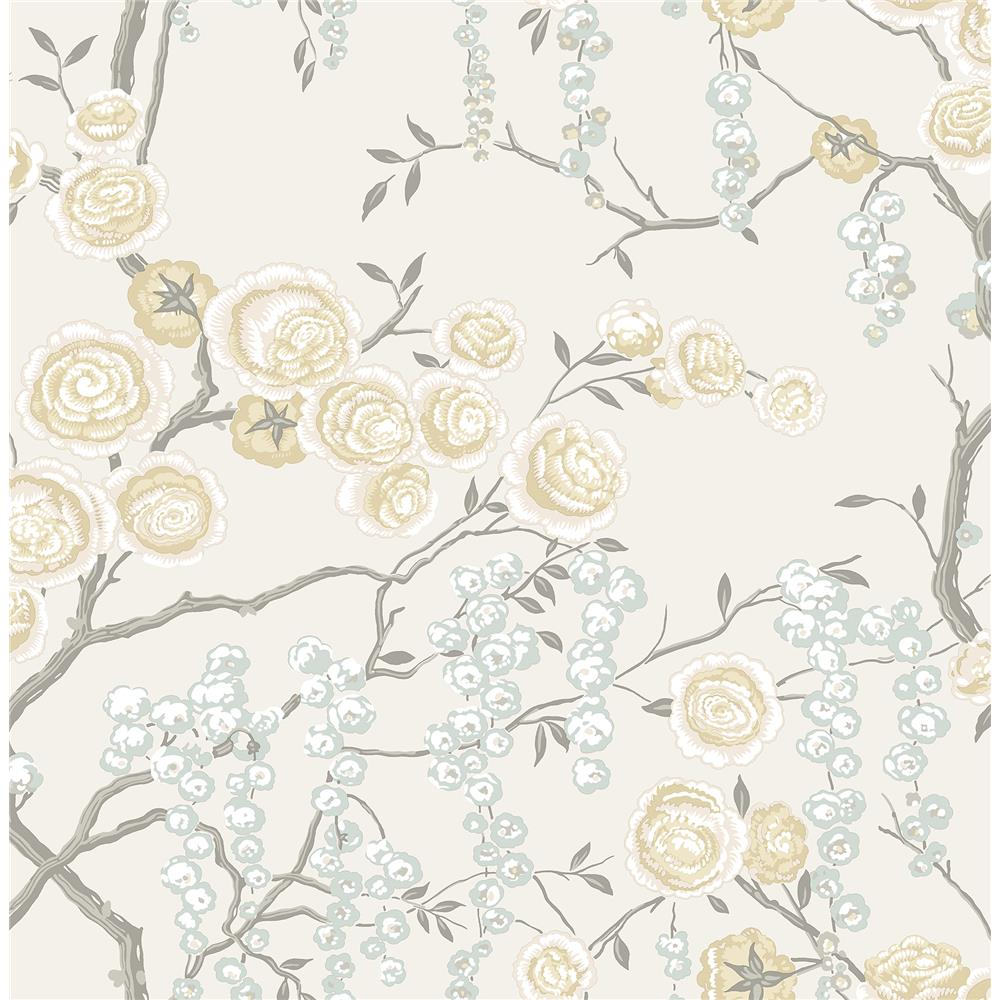 A-Street Prints by Brewster 2785-24833 Signature by Sarah Richardson 52 by Brewster 2785-24833 52 Citrine Peony Tree Wallpaper