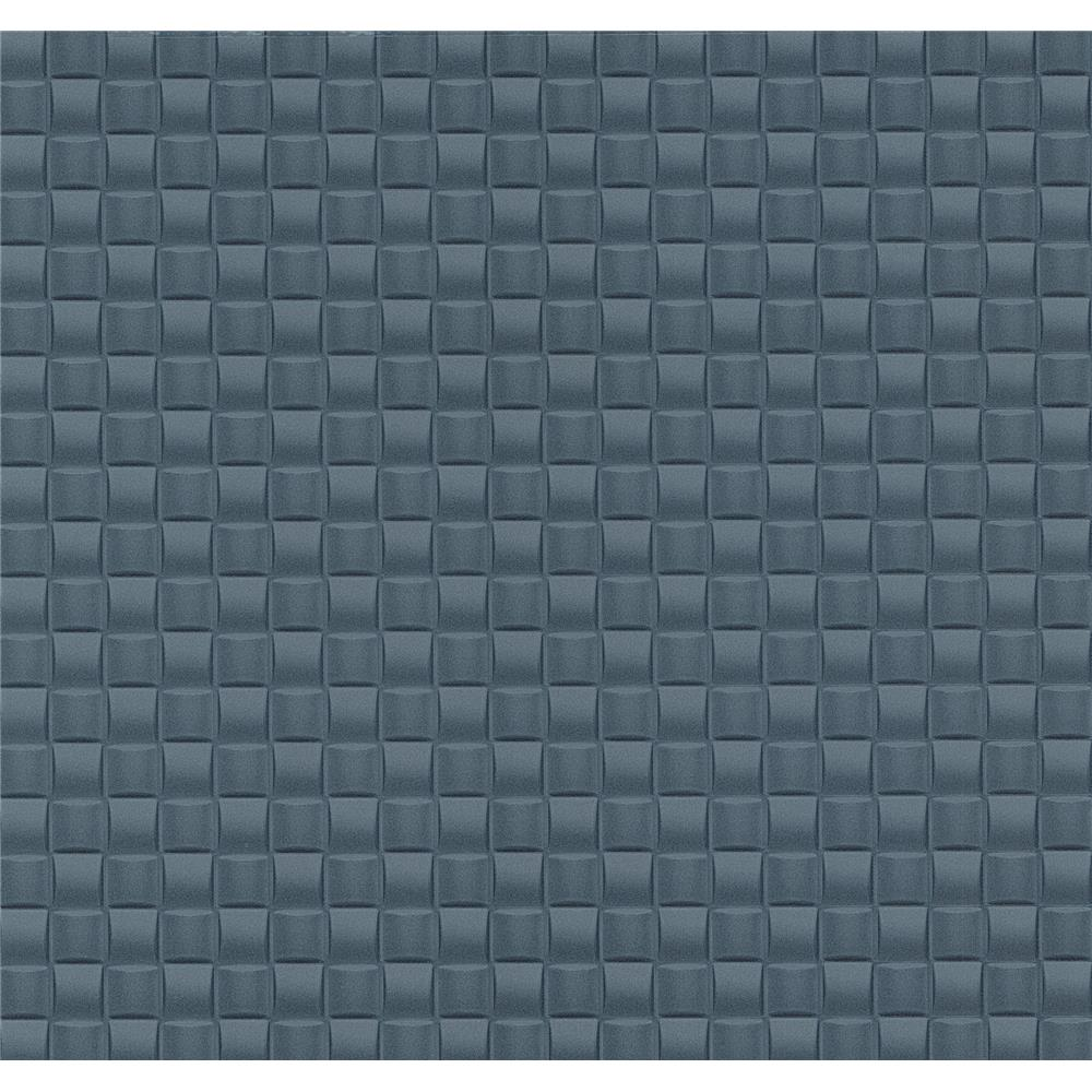 Advantage by Brewster 2799-02468-50 Texture Basics Chet Blue Tile Texture Wallpaper