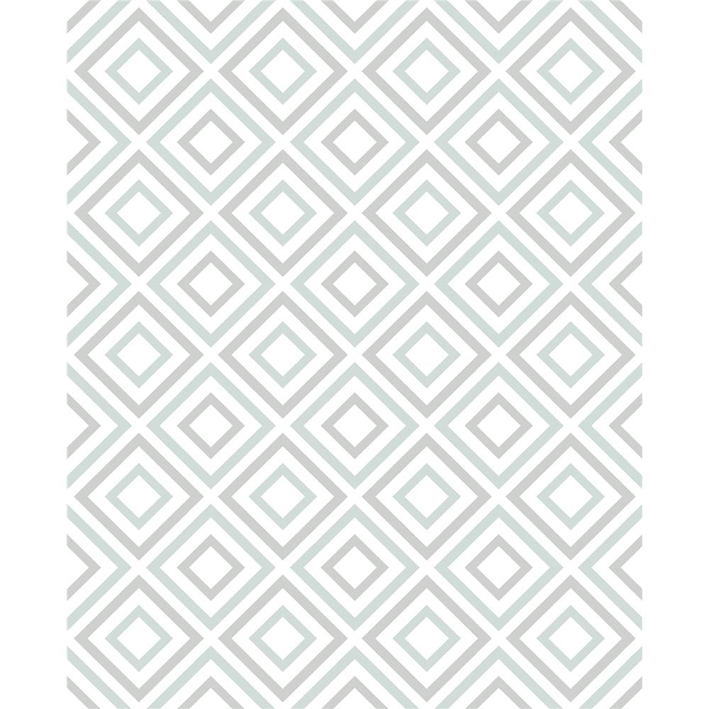 Advantage by Brewster 2809-87700 Geo Horus Seafoam Diamond Geo Wallpaper