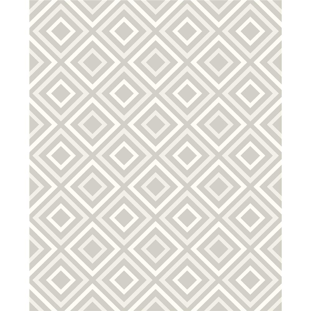 Advantage by Brewster 2809-87703 Geo Horus Silver Diamond Geo Wallpaper