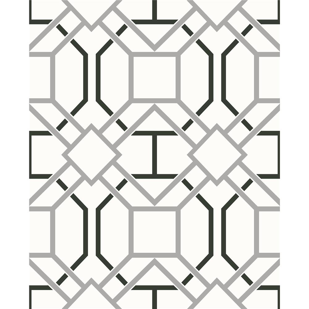 Advantage by Brewster 2809-87705 Geo Dauphin Off-White Lattice Wallpaper
