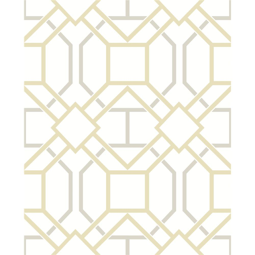 Advantage by Brewster 2809-87706 Geo Dauphin Mustard Lattice Wallpaper