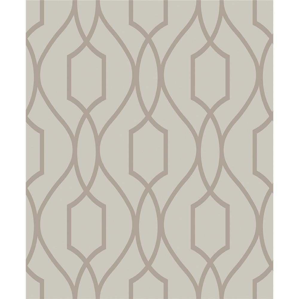 Advantage by Brewster 2809-87713 Geo Evelyn Bronze Trellis Wallpaper