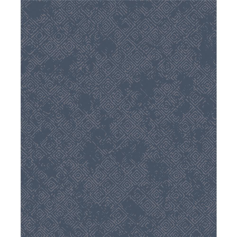 Advantage by Brewster 2809-LH01634 Geo Thompson Navy Key Wallpaper