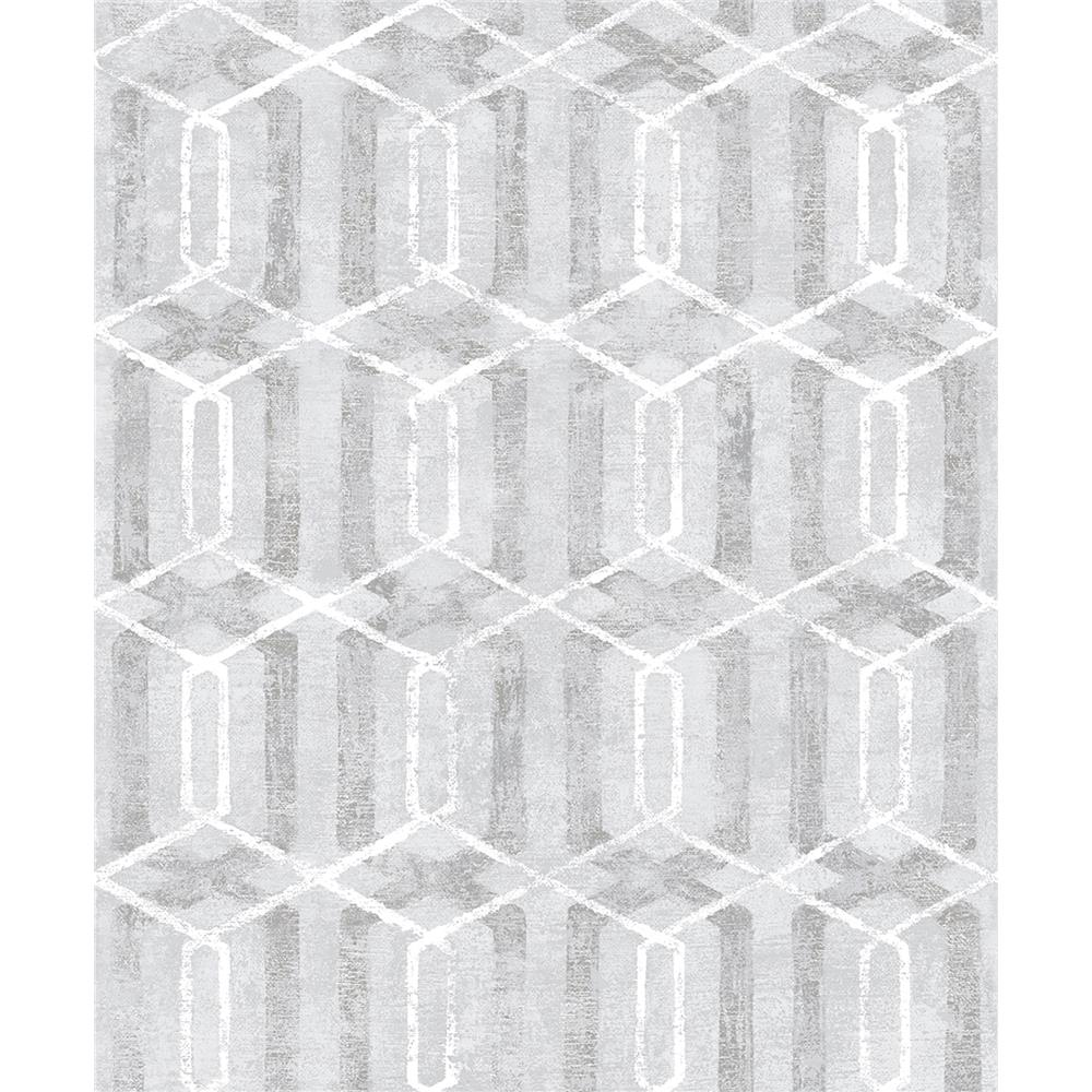 Advantage by Brewster 2809-SH01062 Geo Stormi Grey Geometric Wallpaper