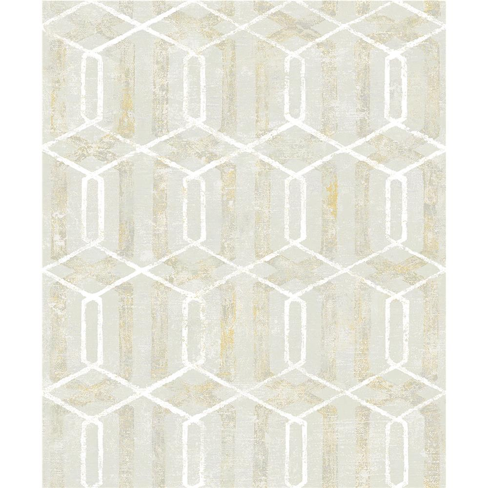 Advantage by Brewster 2809-SH01068 Geo Stormi Beige Geometric Wallpaper