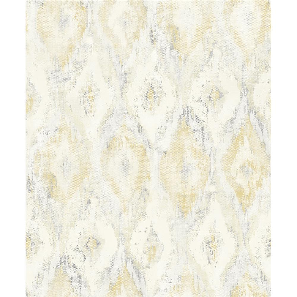 Advantage by Brewster 2809-SH01103 Geo Gilboa Yellow Ikat Wallpaper