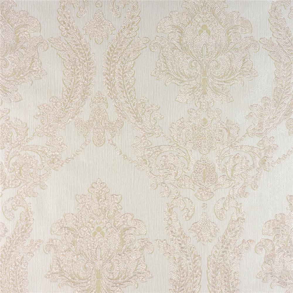 Advantage by Brewster 2810-BLW10902 Tradition Maizey Cream Damask Wallpaper