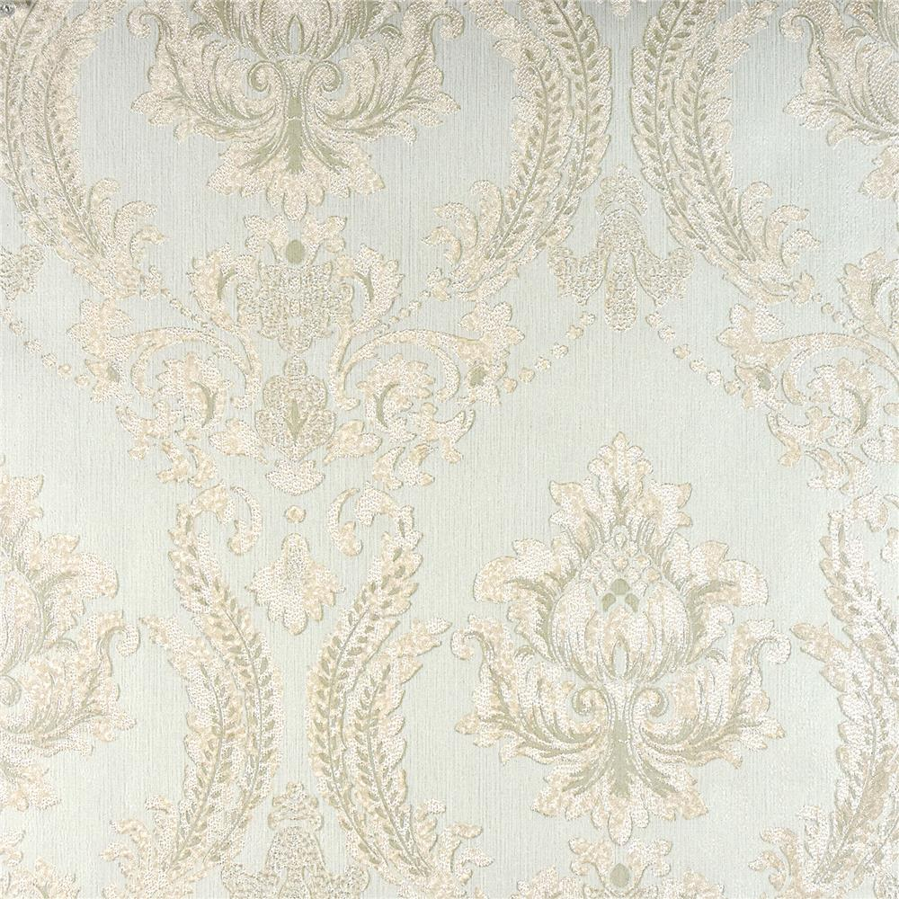 Advantage by Brewster 2810-BLW10904 Tradition Maizey Mint Damask Wallpaper