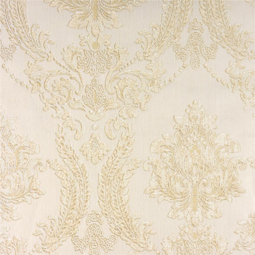 Advantage by Brewster 2810-BLW10906 Tradition Maizey Neutral Damask Wallpaper