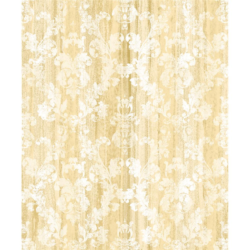 Advantage by Brewster 2810-SH01022 Tradition Camilia Honey Damask  Wallpaper