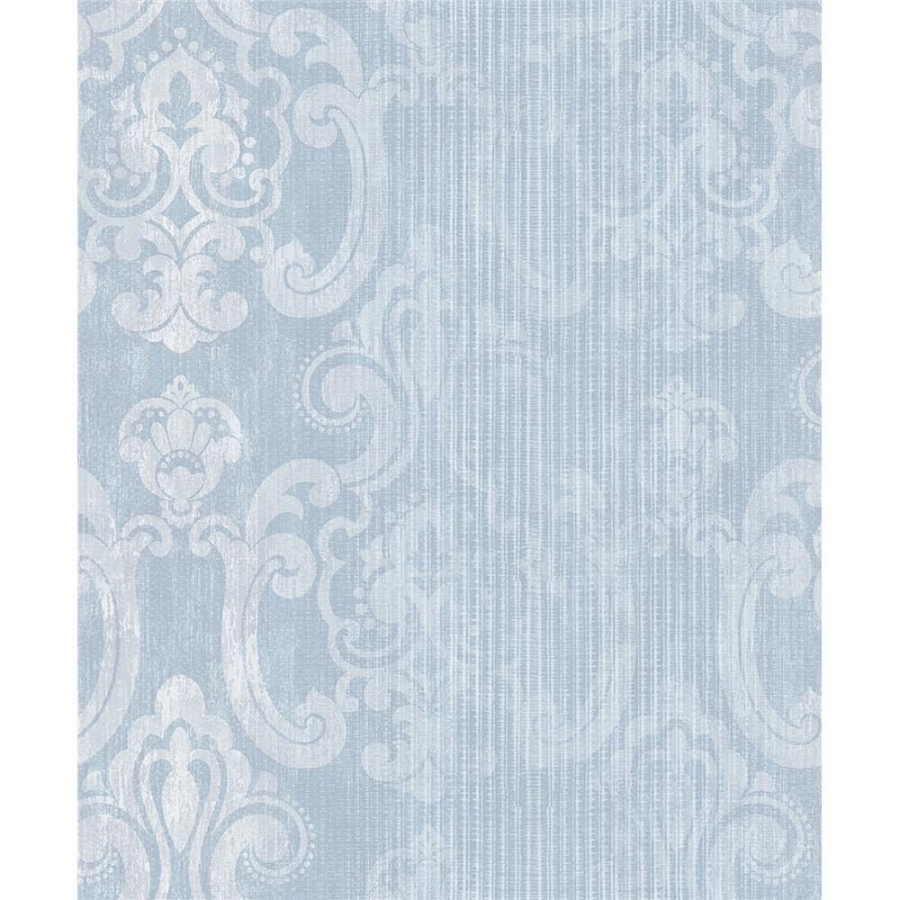 Advantage by Brewster 2810-SH01045 Tradition Ariana Seafoam Striped Damask Wallpaper