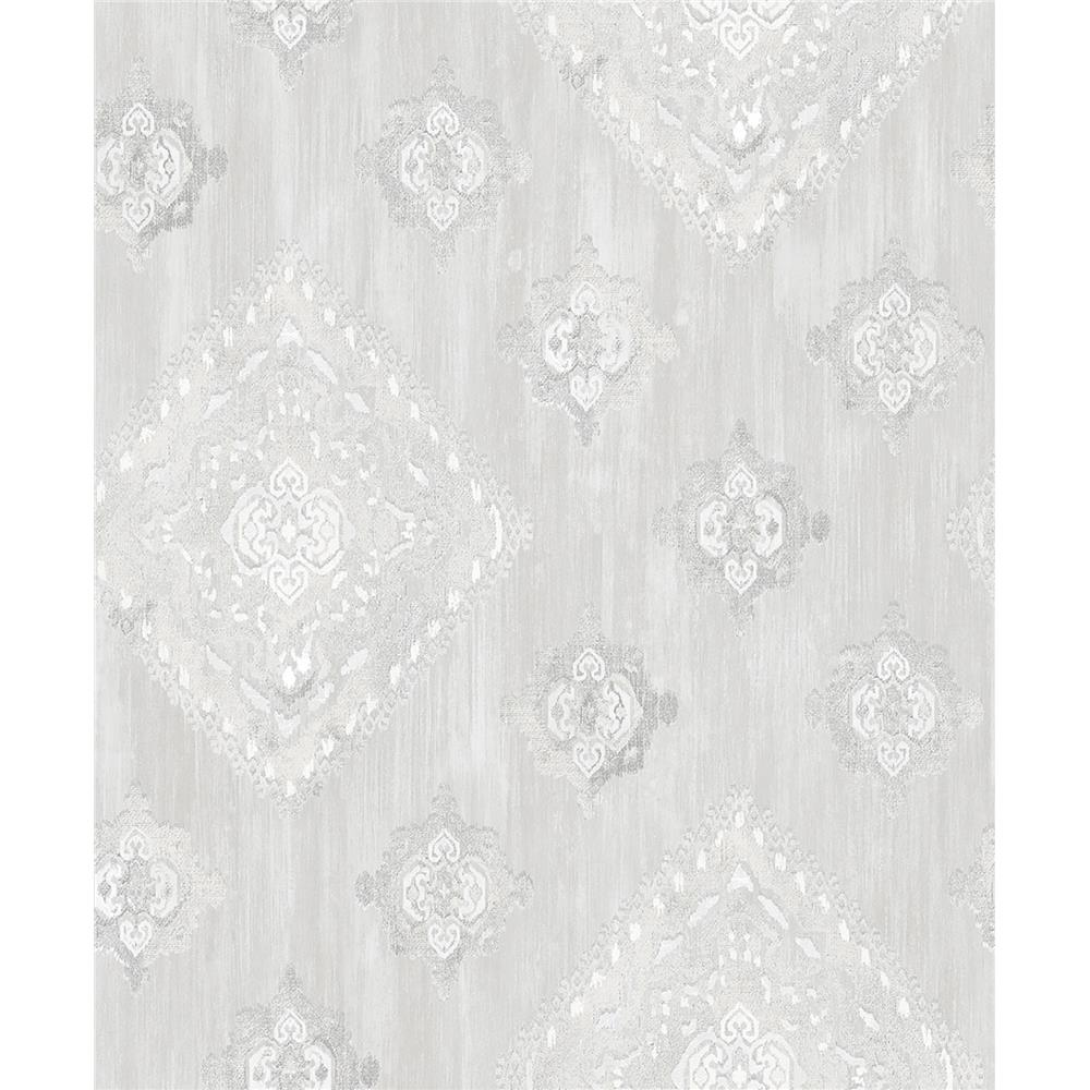 Advantage by Brewster 2810-SH01071 Tradition Leana Dove Medallion Wallpaper