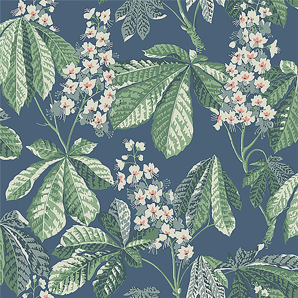Wall Vision by Brewster 2827-7201 Chestnut Blossom Slate Floral Wallpaper