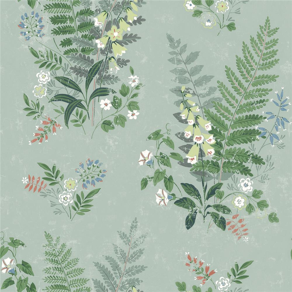 Wall Vision by Brewster 2827-7221 Foxglove Sage Botanical Wallpaper