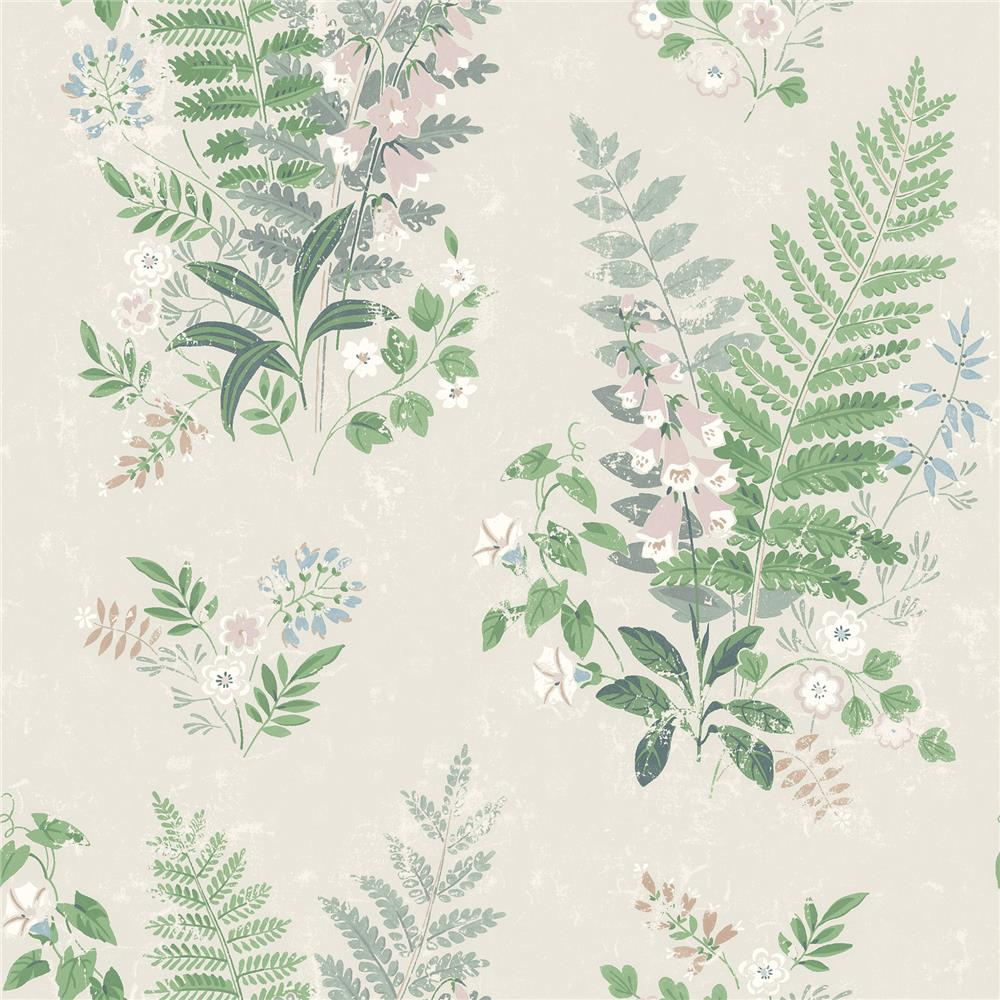 Wall Vision by Brewster 2827-7222 Foxglove Multicolor Botanical Wallpaper