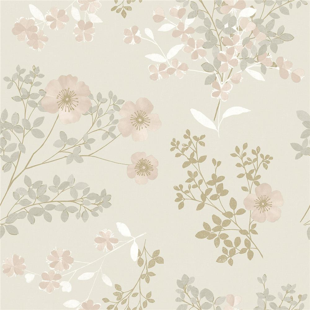 Wall Vision by Brewster 2827-7231 Prairie Rose Blush Floral Wallpaper
