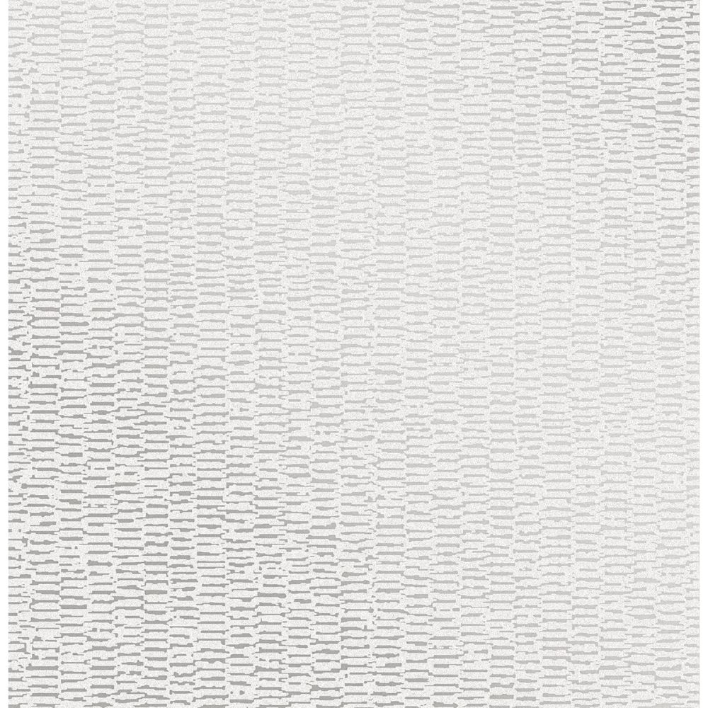 Advantage by Brewster 2834-42241 Advantage Metallics Fleur Silver Texture Wallpaper